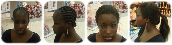 Mademoiselle M. porte une lace wig straight 18
